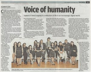 20 October 2014, The Star, Star2 (pg15) - Voice of humanity