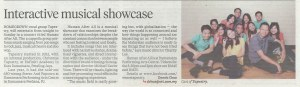 23 October 2014, New Straits Times, Life & Times (pg21) - Interactive musical showcase